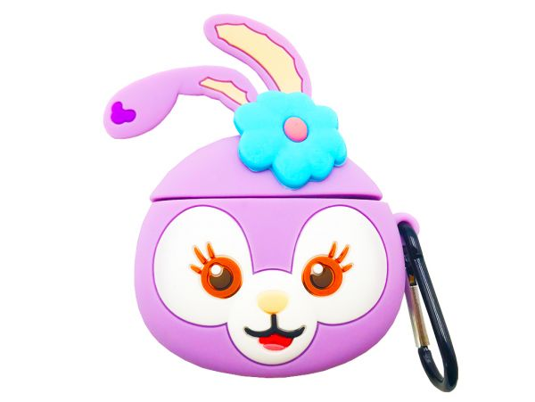 Чехол для AirPods 3D Bunny purple