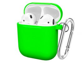 Case Soft touch AirPods (31) neon green
