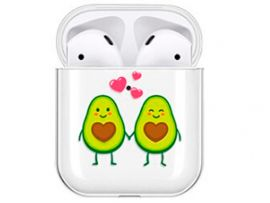Plastic Case for AirPods Couple of avocado