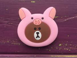 PopSocket Cartoon bear in pig