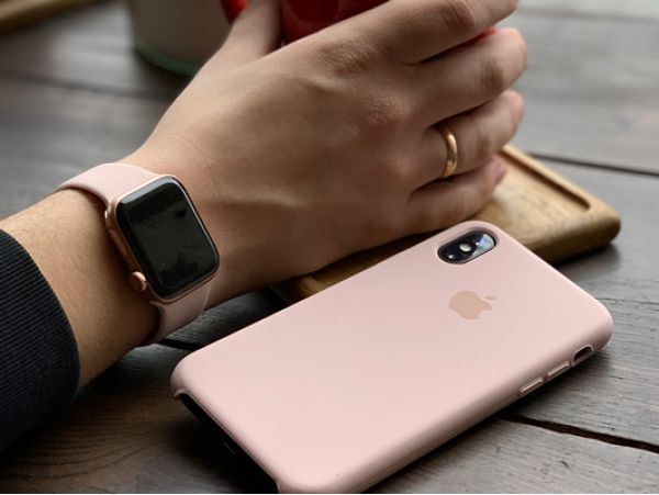 Silicone Watch 42 mm s/m Light Pink