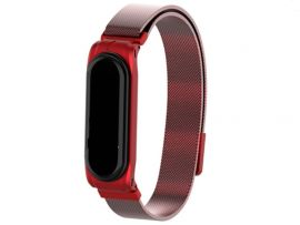 Metal Milanese Mi Band 3 Red