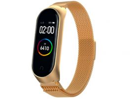 Metal Milanese Mi Band 4/3 Gold