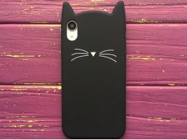 3D CAT'S iPhone Xr Black