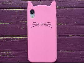 3D CAT'S iPhone Xr Pink