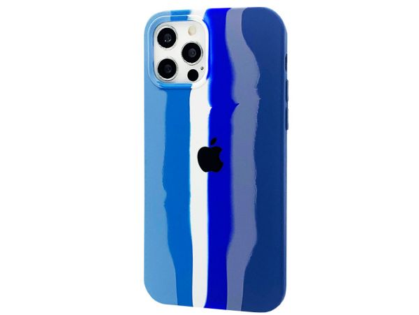 Case soft touch Colorfull iPhone 12 Pro Max blue/white/dark blue