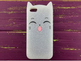 3D Sweet Cat iPhone 5 White