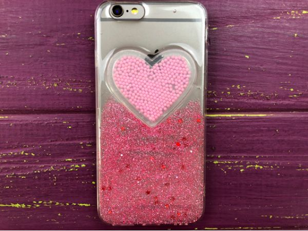 Confetti Heart iPhone 6/6s Pink