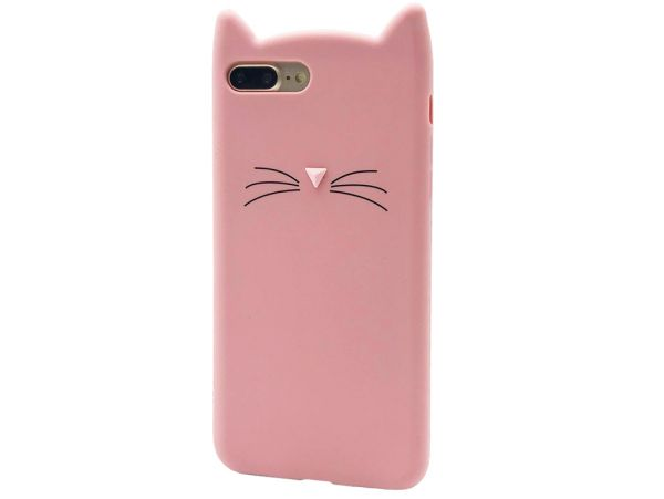 Чехол 3D CAT'S iPhone 7+/8+ Pink