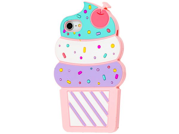 3D Cake iPhone 7/8/SE 2 Light pink