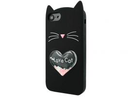 3D CAT'S Love iPhone 7/8/SE 2 Black