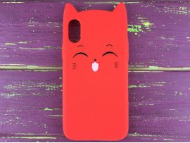 3D Sweet Cat iPhone X/Xs Red
