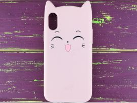 3D Sweet Cat iPhone X/Xs Pink