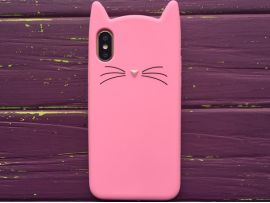 3D CAT'S iPhone X/Xs Pink
