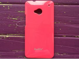 Пластик Hollo HTC (M7) hot pink