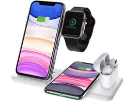 Wireless ChargerDock 4in1 2 Phone/Watch/AirPods 15W White