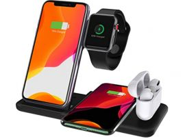 Wireless ChargerDock 4in1 2 Phone/Watch/AirPods 15W Black