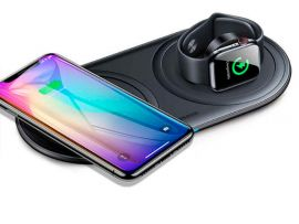 Wireless Charger Baseus Planet 2in1 Type-C black