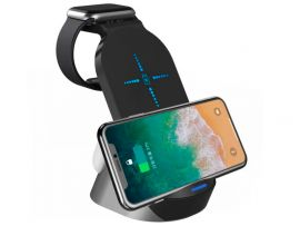 Wireless Charger H-18 3 in1 15W FAST Black