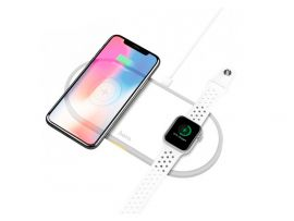 Wireless Charger Hoco CW20 Wisdom 2in1 White