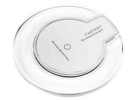 Wireless Charger Crystal Pad Q7 5V 1A White