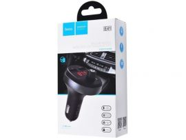 АЗУ Hoco E41 Bluetooth FM Launcher 2USB black