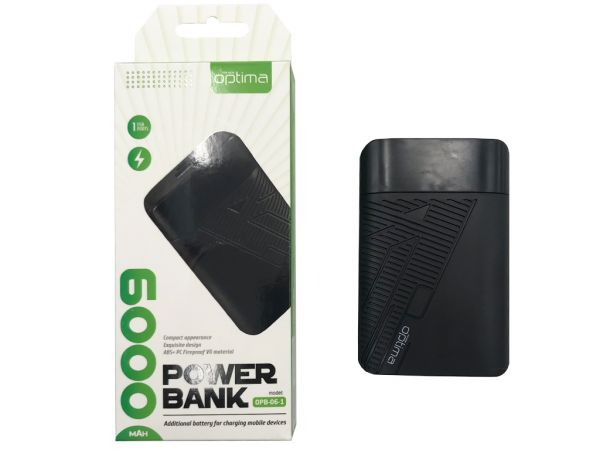 Power Bank Optima OPB-6 6000mAh Black