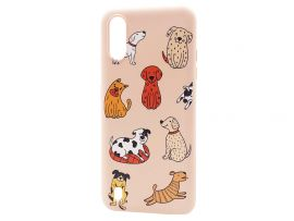 WAVE Fancy Samsung A01 funny dogs/pudra
