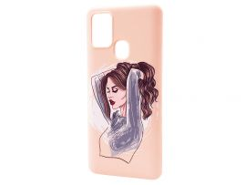 WAVE Fancy Samsung A21s red lips girl/pudra