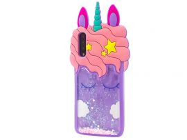3D Sleep Unicorn Аква Samsung A50/A50s/A30s Purple
