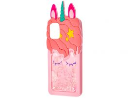 3D Sleep Unicorn Аква Samsung A71 Pink