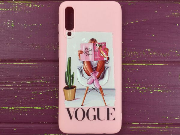 Силикон Candy VOGUE Samsung A70 Pink