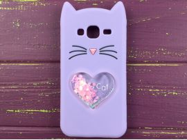 3D CAT'S Love Samsung J3 Purple