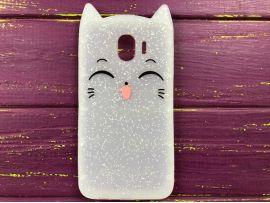 3D Sweet Cat Samsung J4 (18) White