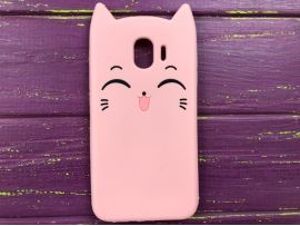3D Sweet Cat Samsung J4 (18) Pink