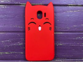 3D Sweet Cat Samsung J4 (18) Red