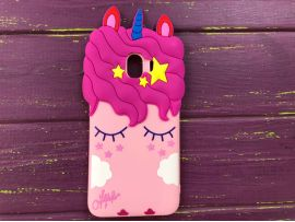 3D Slim Unicorn Sleep Samsung J4(18) Pink