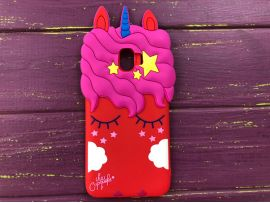 3D Slim Unicorn Sleep Samsung J4(18) Red
