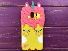 3D Slim Unicorn Sleep Samsung J4(18) Yellow