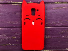 3D Sweet Cat Samsung J6 (18) Red