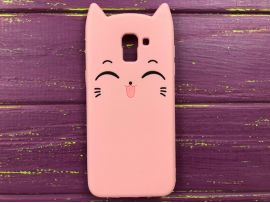 3D Sweet Cat Samsung J6 (18) Pink