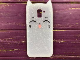 3D Sweet Cat Samsung J6 (18) White