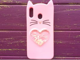 3D CAT'S Love Samsung M20 Pink