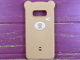 3D Bear Samsung S10 Light Brown