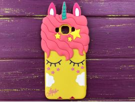3D Slim Unicorn Sleep Samsung J710 Yellow
