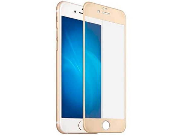 Стекло 3D iPhone 6 gold