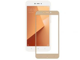 Стекло полн ТП Redmi S2 gold