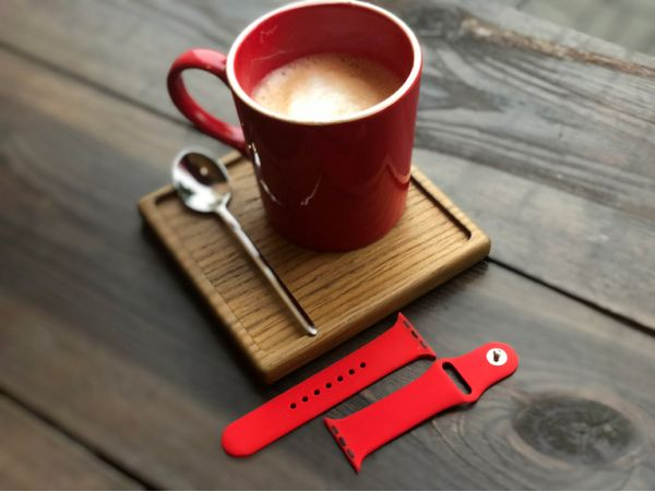 Silicone Watch 38 mm Red