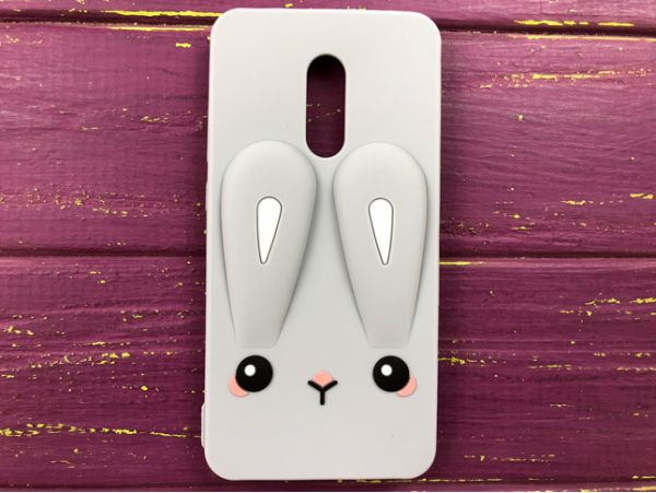 3D RABBIT Redmi 5+ gray