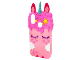 3D Sleep Unicorn Redmi Note 7 Light Pink
